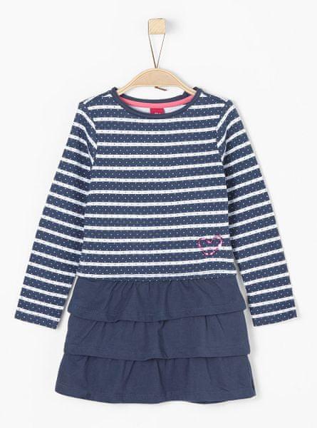 s.Oliver dívčí šaty 116 modrá