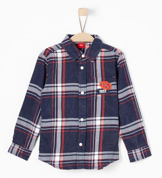 s.Oliver chlapecká kostkovaná košile 116/122 modrá