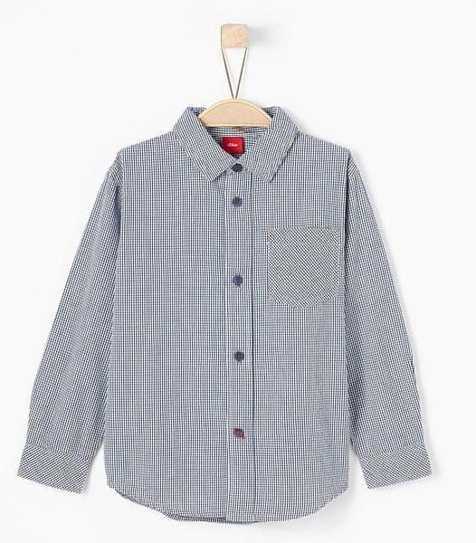 s.Oliver chlapecká kostkovaná košile 140