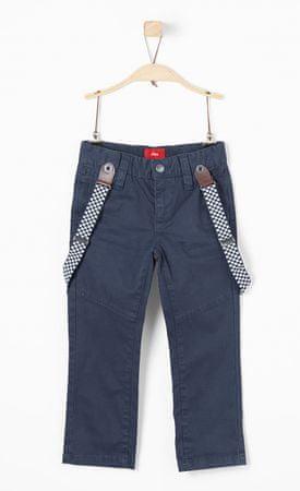 s.Oliver chlapecké kalhoty s kšandami 104 tmavě modrá