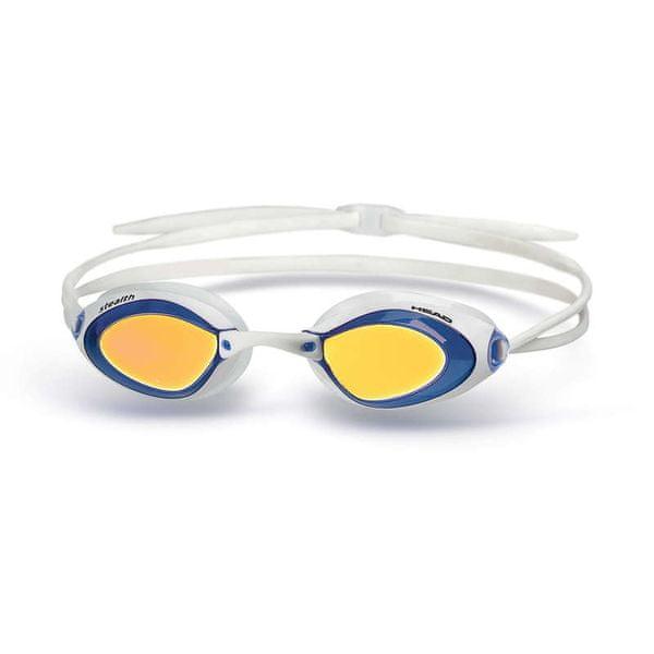 Head Brýle plavecké STEALTH zrcadlové, Head, modrá-bílá