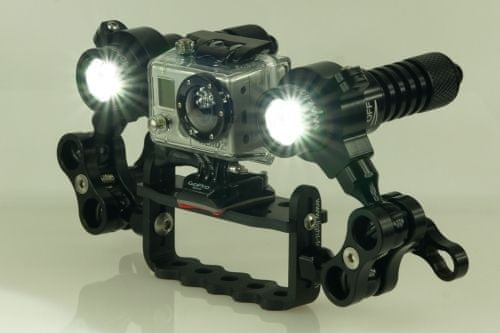LIGHT FOR ME Lampa LED pro GOPRO HD 1800 Lumen SET, Lightforme