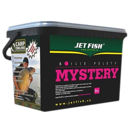 Jet Fish boilies Mystery 3 kg 20 mm Frankfurtská klobása / Korenie