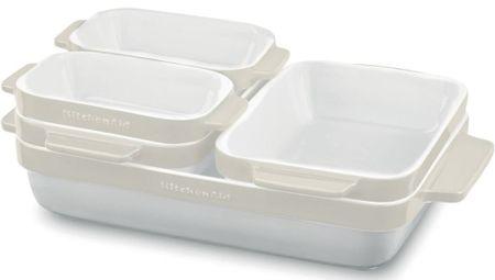 KitchenAid set za peko, bel, 5-delni