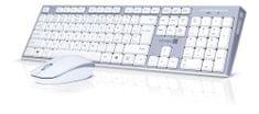 Connect IT Combo bezdrátová bílá klávesnice + myš (CKM-7510-CS)