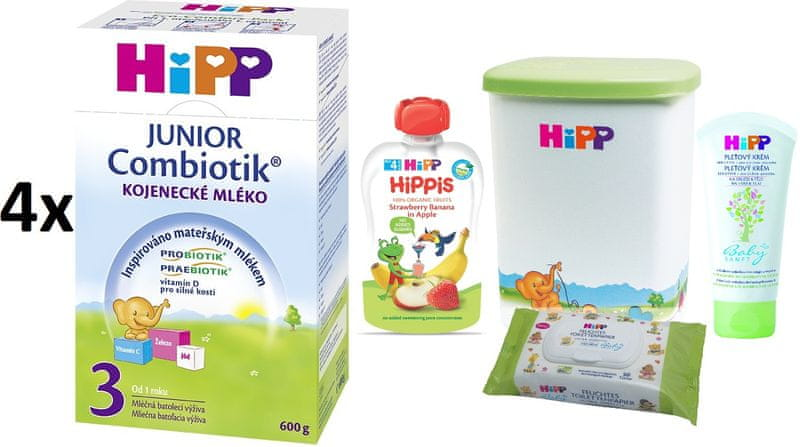 HiPP 3 JUNIOR Combiotic - 4x600g + DÁRKY