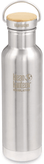 Klean Kanteen Nerezová termolahev Insulated Reflect w/Bamboo Cap - brushed stainless 592 ml