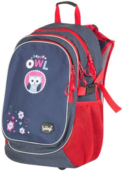 BAAGL Školní batoh Sovičky