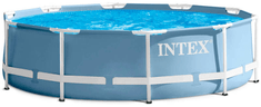 Intex bazen Prism Frame Set 457 x 84 cm, s kartušno črpalko, lestev, podloga, prevleka (28728NP)