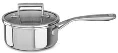 KitchenAid kozica s pokrovom in dolgim ročajem, 18 cm