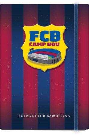 FC Barcelona notes z elastiko, trdi, A6, 96-listni