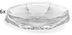 Previosa stekleni pladnji, 6 kosov