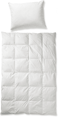 bed & fun´tastisch Set prikrývky a jednokomorového vankúša z prachového peria