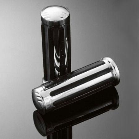 Highway-Hawk gripy 25mm  LEGEND, chróm/čierna (2ks)