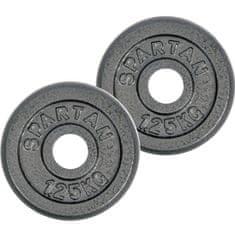 Spartan litoželezna kolutna utež, 2 x 1,25 kg
