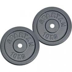 Spartan litoželezna kolutna utež, 2 x 10 kg