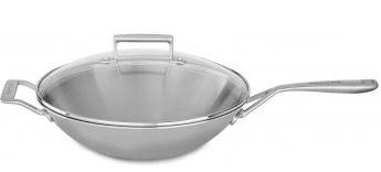 KitchenAid vok s steklenim pokrovom, 33 cm