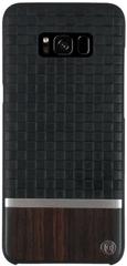 Uunique Kryt Diamond Emboss/Wood (Samsung Galaxy S8), černá