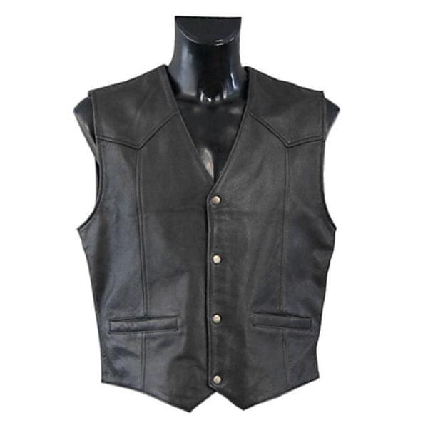 Held pánská vesta DILLON vel.XL černá kůže