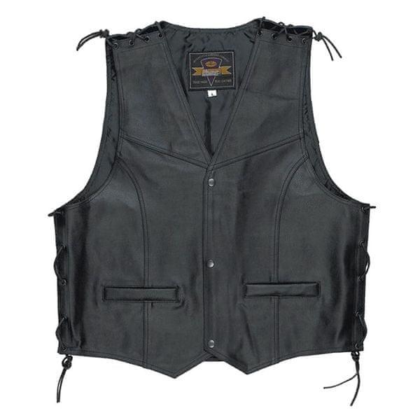 Held pánská vesta PATCH vel.XL černá kůže