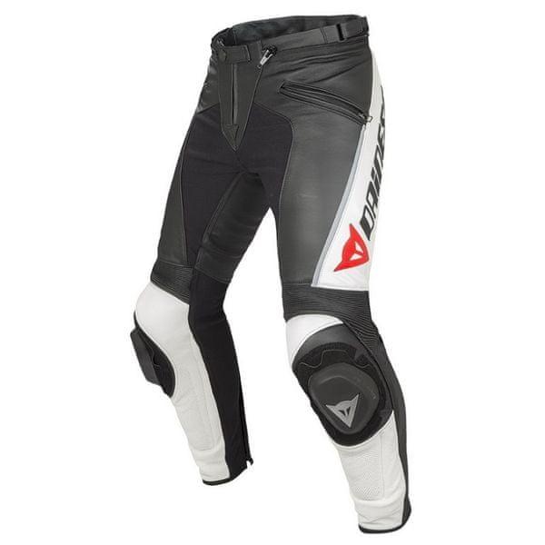 Dainese kalhoty DELTA PRO C2 PELLE vel.50 černá/bílá, kůže