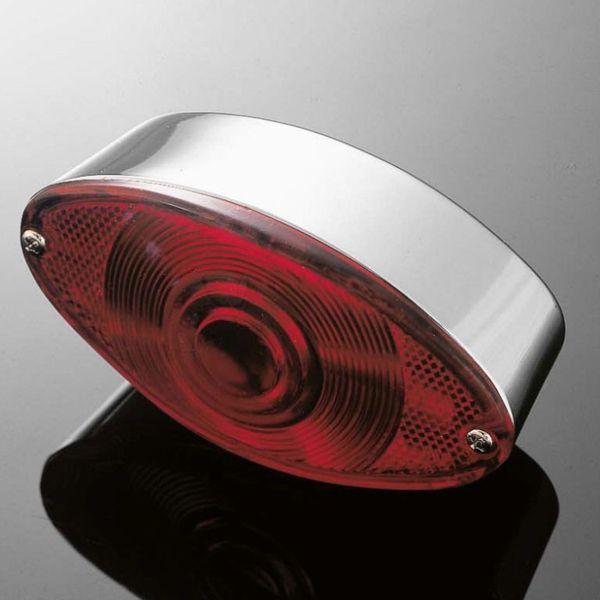 Highway-Hawk koncové světlo na motorku CATEYE, E-mark, chrom (1ks)