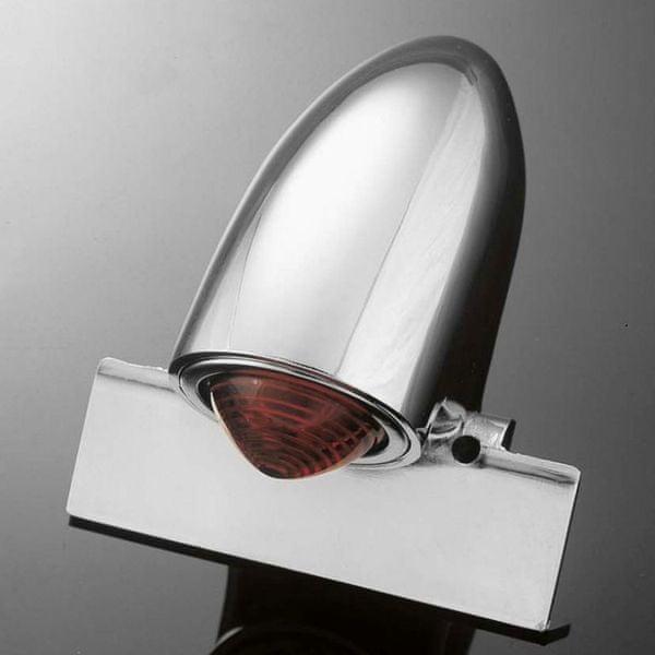 Highway-Hawk koncové moto světlo SPARTO s držákem SPZ, chrom (1ks)