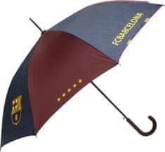 FC Barcelona dežnik z gumijastim ročajem, premer 105 cm, črn