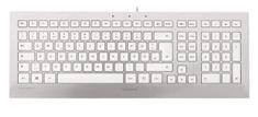 Cherry tipkovnica Strait USB, srebrna, UK SLO g.