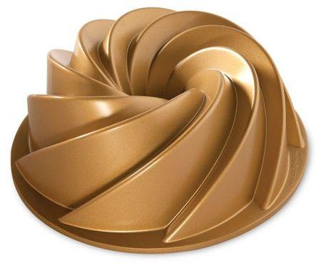 NordicWare Forma na bábovku, Rondo Heritage, zlatá