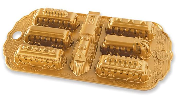 Nordic Ware Forma na pečení, Polární Express, zlatá