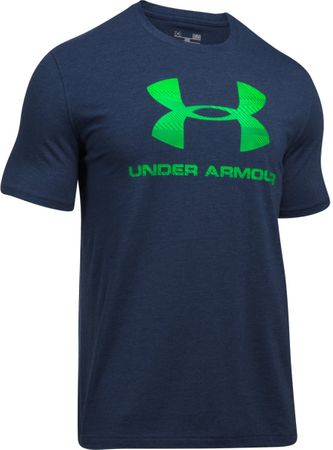 Under Armour moška majica s kratkimi rokavi CC Sportstyle Logo Midnight Navy Heather Lime Twist, L