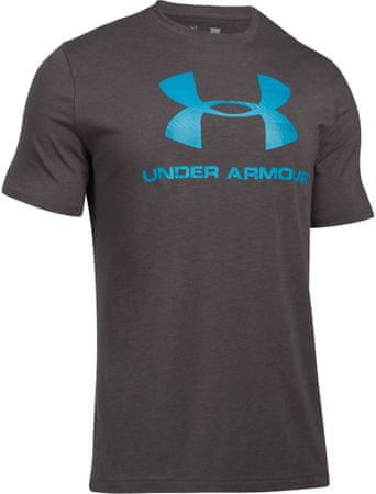 Under Armour moška majica s kratkimi rokavi CC Sportstyle Logo Charcoal Heather Blue, XXL