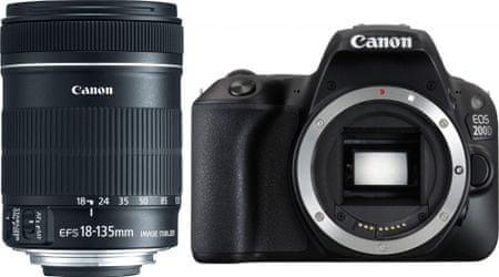 Canon EOS 200D + 18-135 IS STM (2250C028) + Cashback 1200 Kč! + 500 Kč na fotoslužby