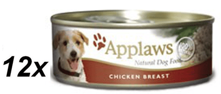 Applaws mokra hrana za pse, piščančja prsa, 16 x 156g