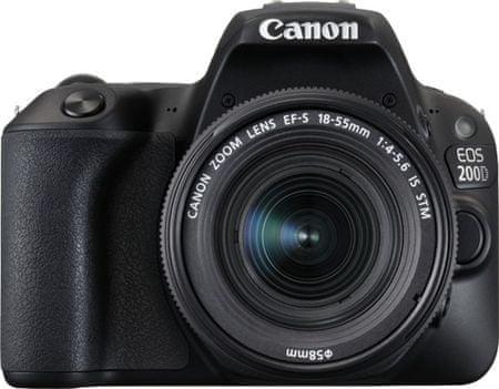 Canon fotoaparat EOS 200D + 18-55 IS STM, crni