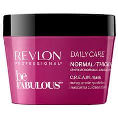 Revlon Professional Maska pre normálnu až silné vlasy Be Fabulous ( Daily Care Normal/Thick Hair Cream Mask) 200 ml