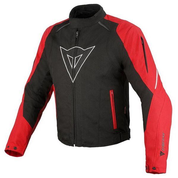 Dainese bunda LAGUNA SECA D-DRY vel.58 černá/červená/bílá, textilní