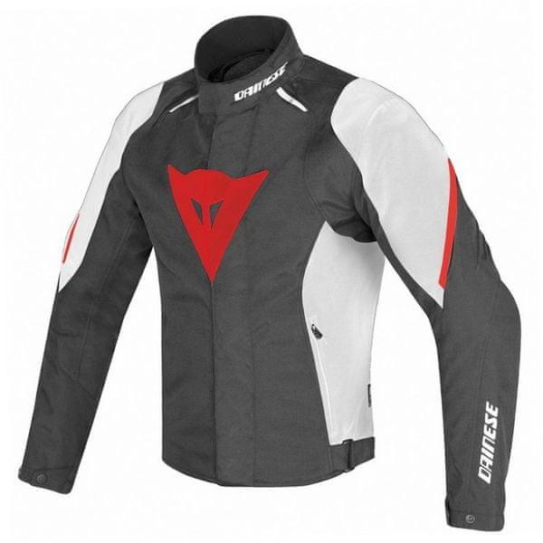 Dainese bunda LAGUNA SECA D1 D-DRY vel.50 černá/bílá/červená, textilní