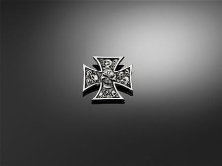 Highway-Hawk skrutkovacie emblém  SKULL CROSS GRAVE-lebky v krížoch