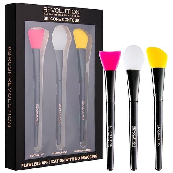 Makeup Revolution Sada silikonových štětců na konturování