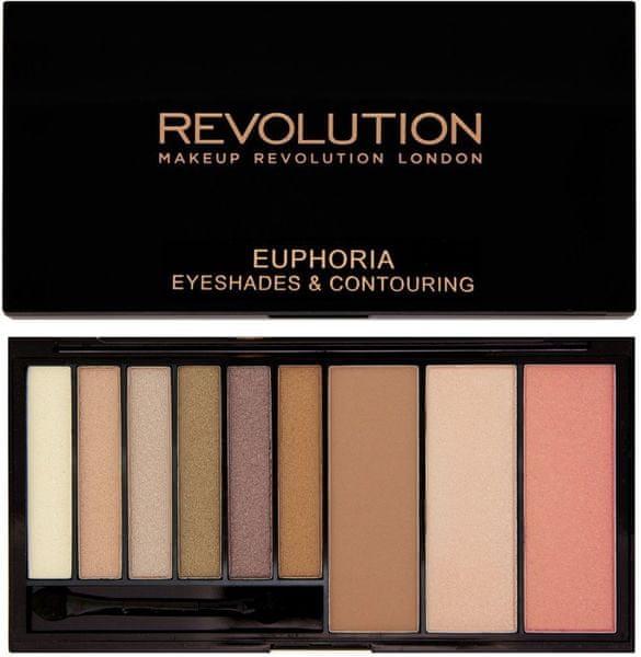 Makeup Revolution Paletka očních stínů a konturovací sada Bronzed Euphoria