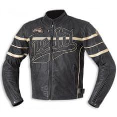 Held pánská motocyklová bunda  ARAS, černá/béžová, kůže