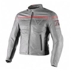 Dainese pánská kožená bunda na motorku  BLACKJACK šedá/černá/červená