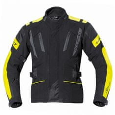 Held pánská moto bunda  4-TOURING Reissa černá/fluo žlutá