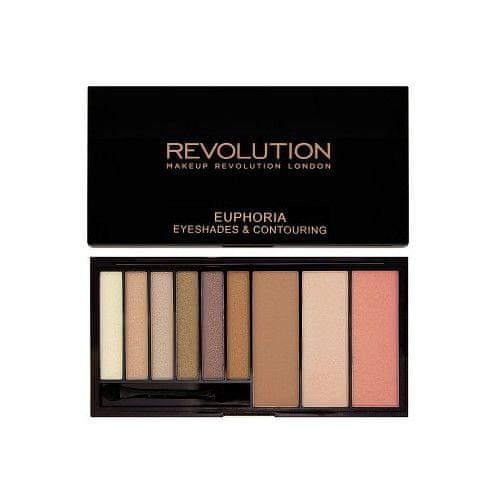Makeup Revolution Paletka očních stínů a konturovací sada v jednom Bare Euphoria