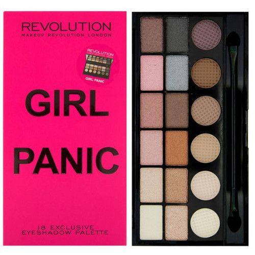 Makeup Revolution Limitovaná paletka 18 očních stínů Girl Panic