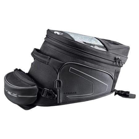 Held motocyklový Tankbag  CAMPO-objem 14-20l (B) čierny, Velcro systém