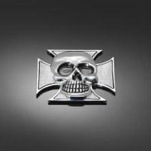 Highway-Hawk skrutkovacie emblém  CROSS & SKULL-lebka v krížoch