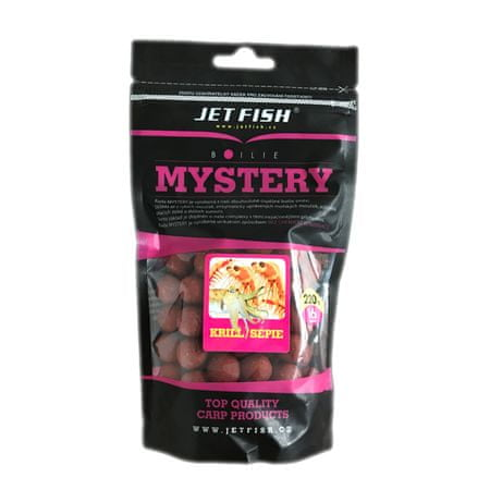 Jet Fish boilies Mystery 250 g 20 mm Oliheň / Chobotnica